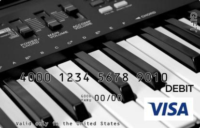 Piano Keys Visa Gift Card