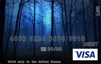 Creepy Forest Visa Gift Card