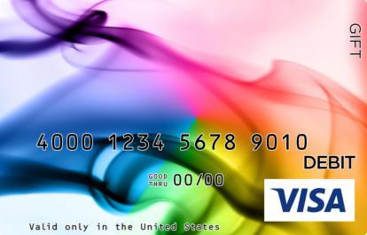 Artsy Rainbow Visa Gift Card