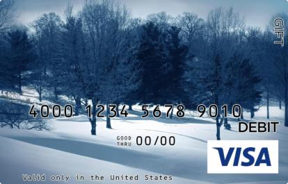 Winter Forest Visa Gift Card