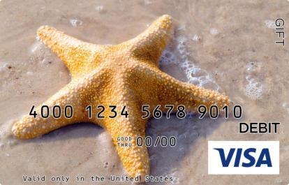 Yellow Starfish Visa Gift Card