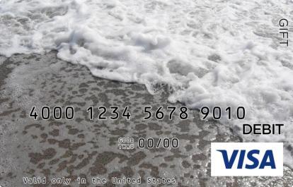 Waves on a Beach Visa Gift Card