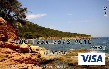 Peaceful Beach Visa Gift Card