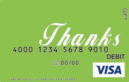 Thanks Visa Gift Card