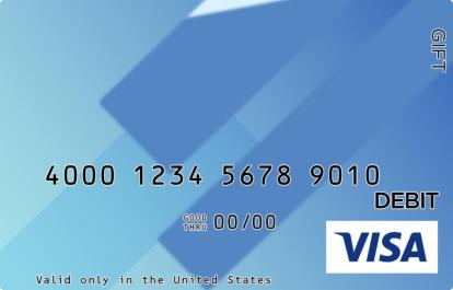Blue Blocks Visa Gift Card