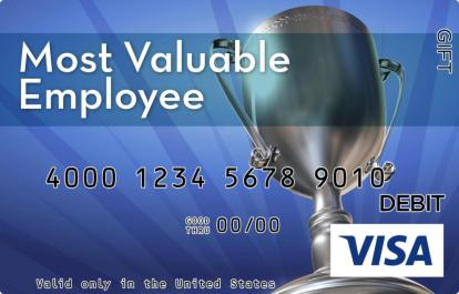 Most Valuable Employee Trophy Visa Gift Card