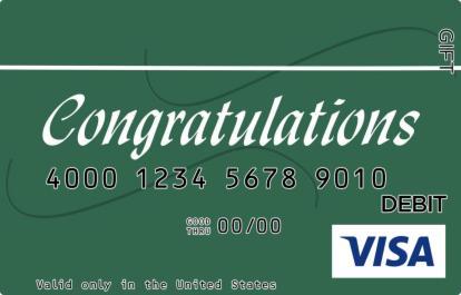 Green Congrats Visa Gift Card
