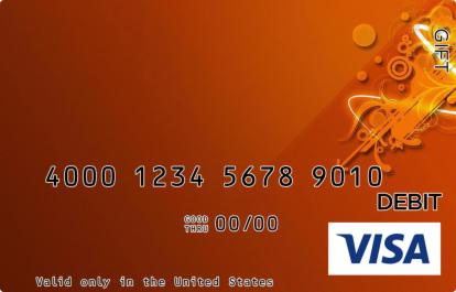 Orange Visa Gift Card