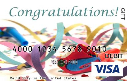 Colorful Congratulations Visa Gift Card