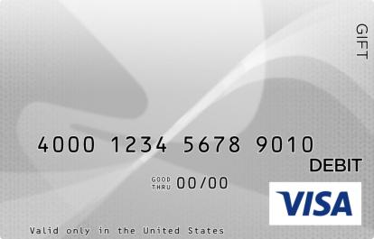 White and Gray Visa Gift Card