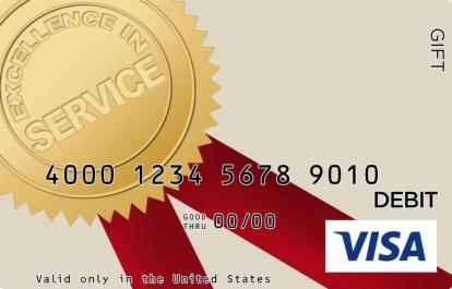 Excellent Service Visa Gift Card