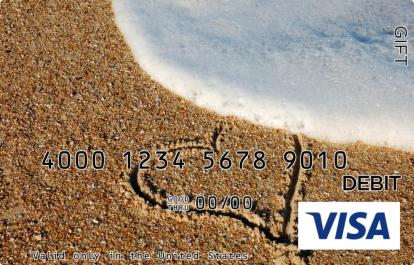 Heart in the Sand Visa Gift Card