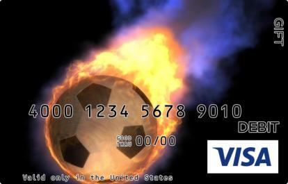 Flaming Soccer Visa Gift Card
