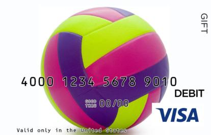 Colorful Volleyball Visa Gift Card