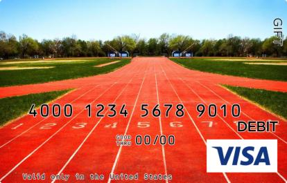 Track and Field Visa Gift Card