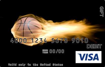 Flaming Basketball Visa Gift Card