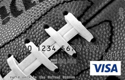 Close Up Football Visa Gift Card