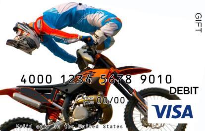 Motocross Visa Gift Card