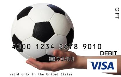 Soccer Ball Presentation Visa Gift Card