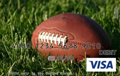 Football in Grass Visa Gift Card