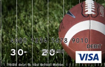 Football Sitting Visa Gift Card