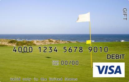 Beautiful Golf Course Visa Gift Card