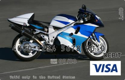 Cool Motorbike Visa Gift Card