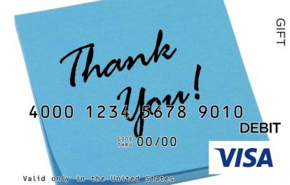 Thank You on a Napkin Visa Gift Card