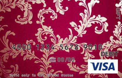 Red Embroidery Visa Gift Card