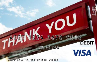 Red Thank You Visa Gift Card