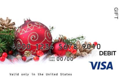 Holiday Display Visa Gift Card