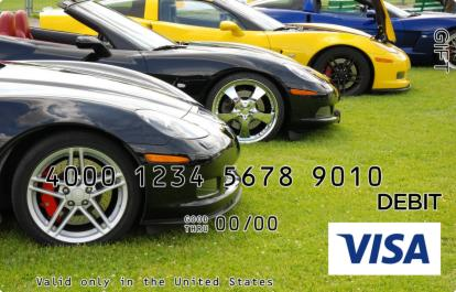Sports Cars Visa Gift Card