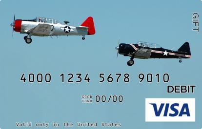 Vintage Airplane Visa Gift Card