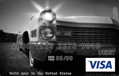 Vintage Headlights Visa Gift Card