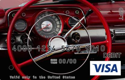 Steering Wheel Visa Gift Card