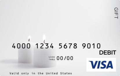 Wedding Candles Visa Gift Card
