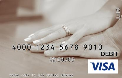 Couples Hand Visa Gift Card