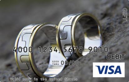 Gold and Silver Rings Visa Gift Card