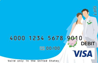 Couple on Blue Visa Gift Card