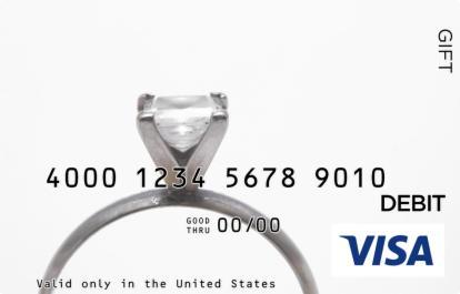 Engagement Ring Visa Gift Card