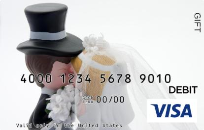 Kissing Figurines Visa Gift Card