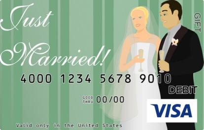 Just Married Visa Gift Card