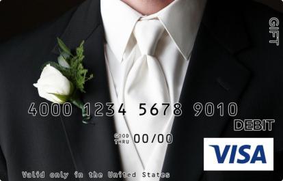 Grooms Tuxedo Visa Gift Card