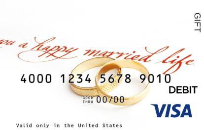 Happy Marriage Visa Gift Card