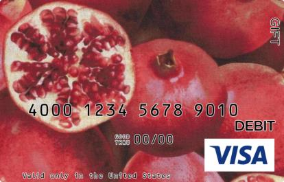 Pomegranate with Seeds Visa Gift Card