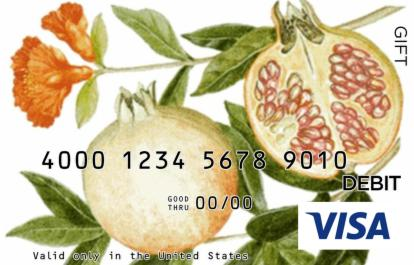 Pomegranates and Flower Visa Gift Card