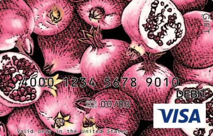 Artistic Pomegranates Visa Gift Card