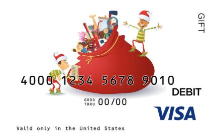 Santas Elves Visa Gift Card
