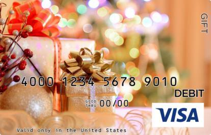 Peach Presents Visa Gift Card