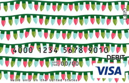 String of Lights Visa Gift Card